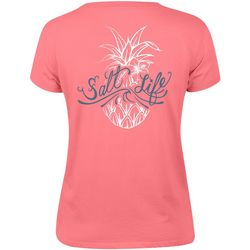 Salt Life Juniors Signature Pineapple Boyfriend T-Shirt