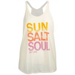 Salt Life Juniors Sun Salt Soul Halter Tank Top