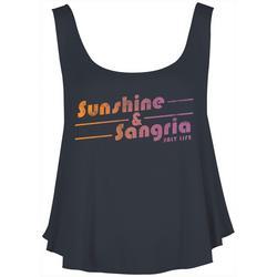 Juniors Sunshine & Sangria Tank Top