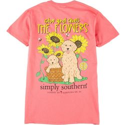 Simply Southern Juniors Stop And Smell The Flowers T-Shirt
