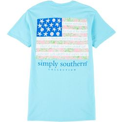 Simply Southern Juniors Tropical Flag T-Shirt