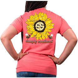 Juniors Sunflower T-Shirt