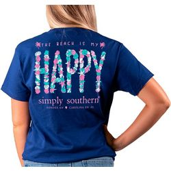 Simply Southern Juniors Beach Happy T-Shirt