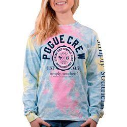 Juniors Tie Dye Pogue Crew T-Shirt