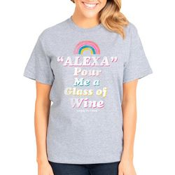 Simply Southern Juniors Vintage Pour A Glass Of Wine T-Shirt