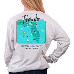 Juniors Florida State Map T-Shirt