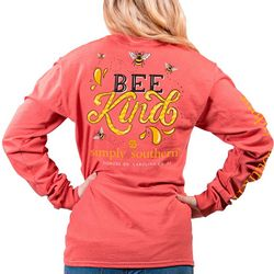 Simply Southern Juniors Bee Kind Long Sleeve T-Shirt