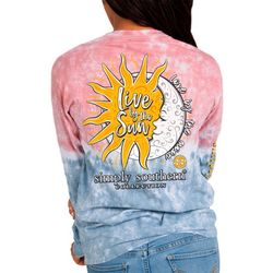 Juniors Tie Dye Live By The Sun T-Shirt