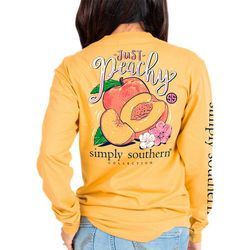 Simply Southern Juniors Just Peachy T-Shirt