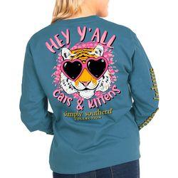 Juniors Long Sleeve Cats & Kittens T-Shirt