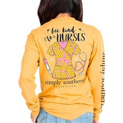 Simply Southern Juniors Bee Kind To Nurses Long Sleeve Tee