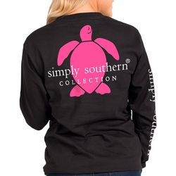Simply Southern Juniors Turtle Logo Graphic Long Sleeve Top