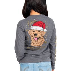 Simply Southern Big Girls Believe Dog Crew Neck T-Shirt