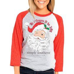 Simply Southern Juniors Tis The Season Raglan T-Shirt