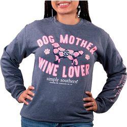 Fleece Dog Mother Wine Lover Sweatshirt