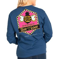 Juniors Bee Love Long Sleeve Top