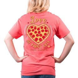 Simply Southern Juniors Love At First Bite T-Shirt