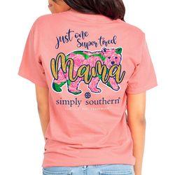 Juniors Tired Mama Bear T-Shirt