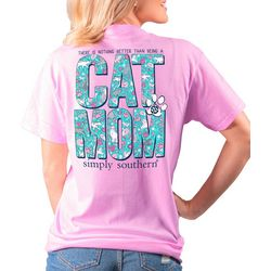 Juniors Cat Mom T-Shirt