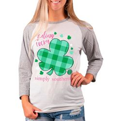 Simply Southern Juniors Feeling Lucky T-Shirt