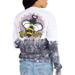 Juniors Bee Happy Long Sleeve Top
