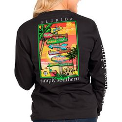Simply Southern Juniors Florida Signs Long Sleeve Tee