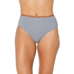 Juniors Americana High Waist Swim Bottoms