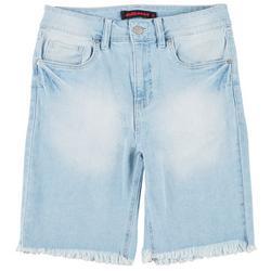 Juniors Solid Denim Bermuda Shorts