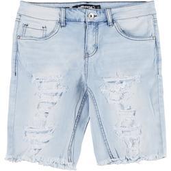 Juniors Distressed Denim Bermuda Shorts