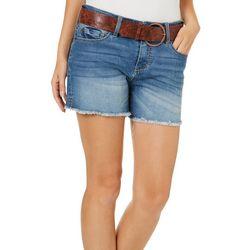 Dollhouse Juniors Frayed Denim Shorts