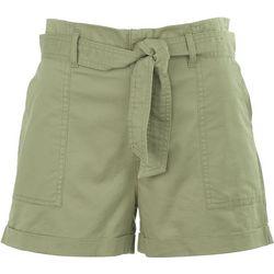 Vanilla Star Junior High Waisted Shorts With Tie