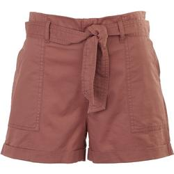 Junior High Waisted Shorts With Tie