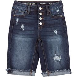 Juniors Button Fly Bermuda Shorts