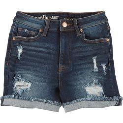 Vanilla Star Juniors Real Cheeky Roll Cuff Denim Shorts