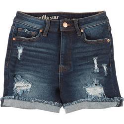 Juniors Real Cheeky Roll Cuff Denim Shorts