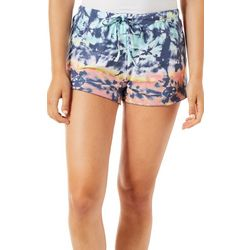 Poof Juniors Multicolored Tie Dye Pull On Shorts