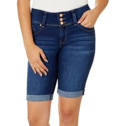 YMI Juniors WannaBettaButt Faded Roll Cuff Bermuda Shorts