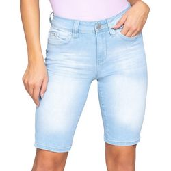 YMI Juniors WannaBettaButt Solid Denim Bermuda Shorts