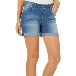 YMI Juniors WannaBettaButt Denim Roll Cuff Shorts