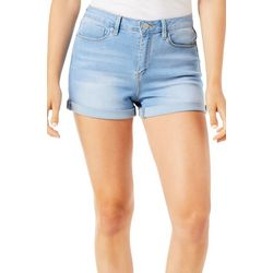 YMI Juniors Hide Your Muffin Top Faded Roll Cuff Shorts