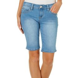 YMI Juniors WannaBettaButt Denim Bermuda Shorts
