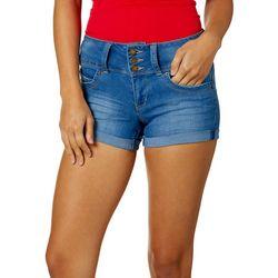 YMI Juniors WannaBettaButt Roll Cuff Denim Shorts