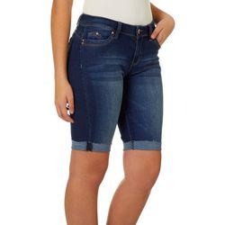 YMI Juniors WannaBettaButt Roll Cuff Bermuda Shorts