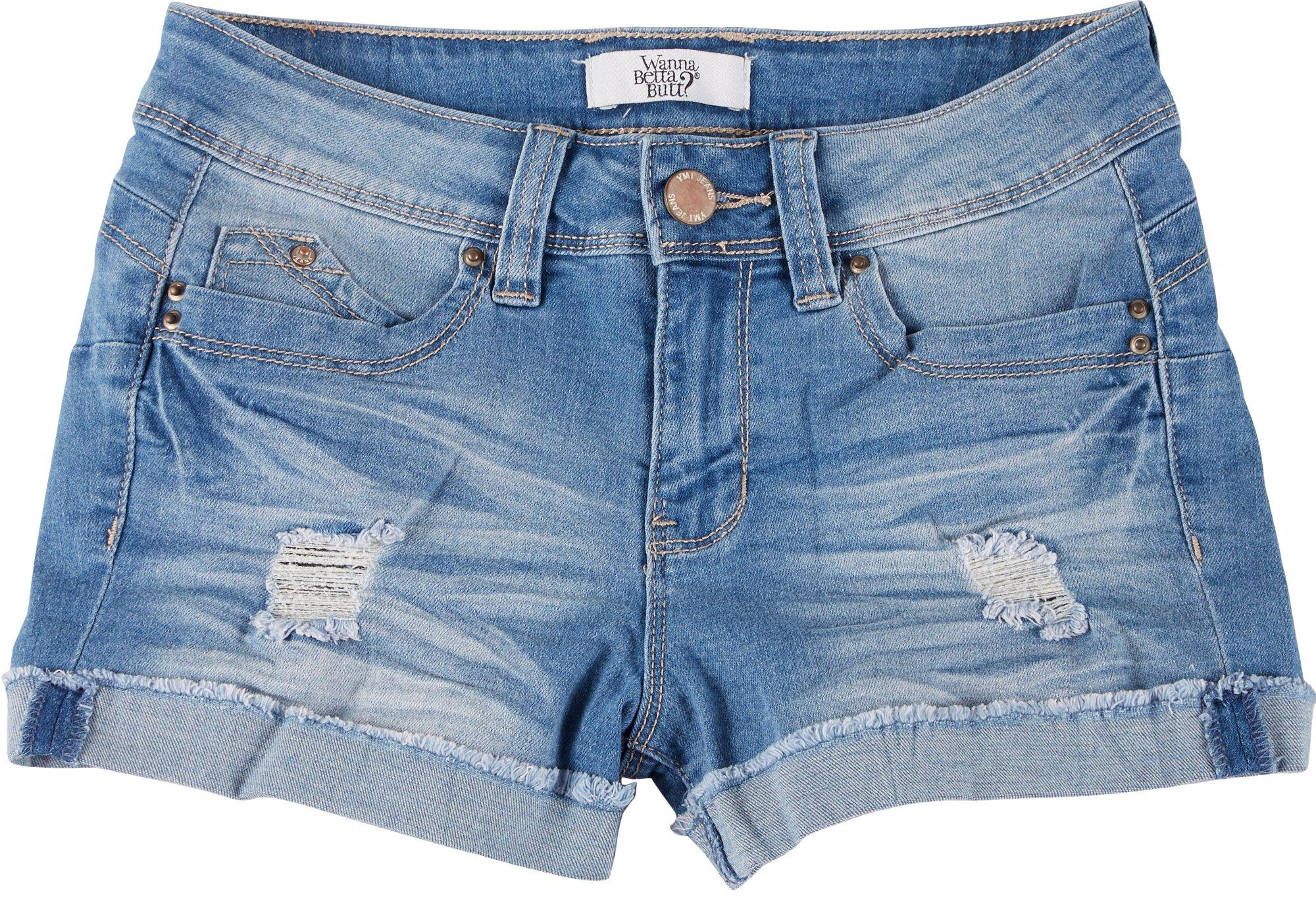 Juniors WannaBettaButt? Denim Shorts