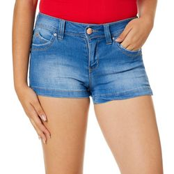 YMI Juniors WannaBettaButt Mid Rise Denim Shorts