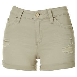 YMI Juniors Curvy Fit Cuffed Denim Shorts