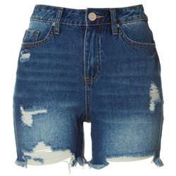 Royalty by YMI Womens Distressed Denim Shorts