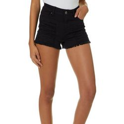 YMI Juniors Frayed Denim Shorts