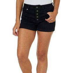 YMI Juniors Hide Your Muffin Top Roll Cuff Denim Shorts