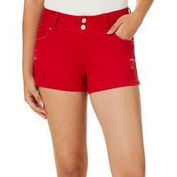 YMI Juniors WannaBettaButt Destructed Denim Shorts